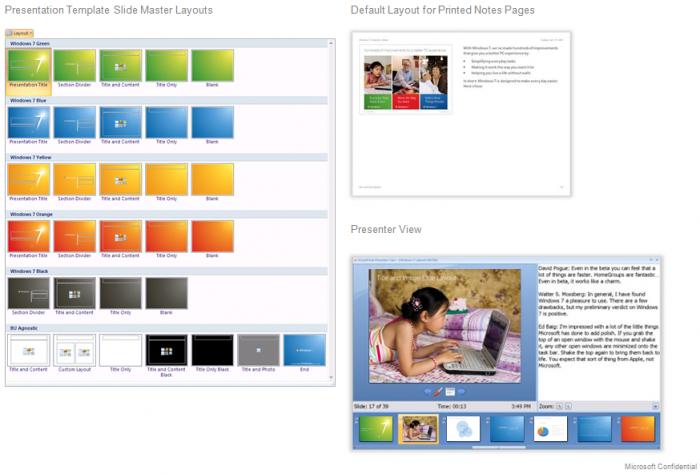 Как сделать слайды на windows 7